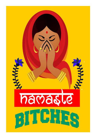 PosterGully Specials, Namaste Bitches Wall Art | Artist : Manju Nk, - PosterGully