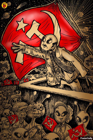 Wall Art, Comrade Alien Artwork | Artist: Charbak Dipta, - PosterGully