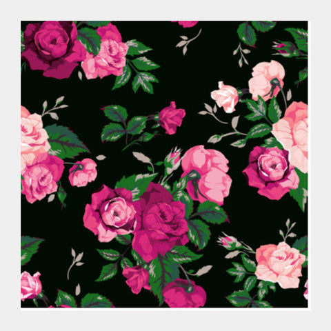 Vector Rose Square Art Prints PosterGully Specials
