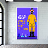 Pixelvana- Life is short- pixel motivation Giant Poster | Artist : 8bitbaba
