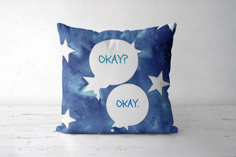 The Fault in Our Stars Cushion Cover | Artist: Vidushi Jain