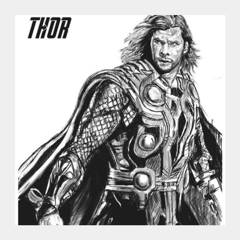 Square Art Prints, Son of Odin: Thor Square Art Prints | Artist : Draw On Demand, - PosterGully