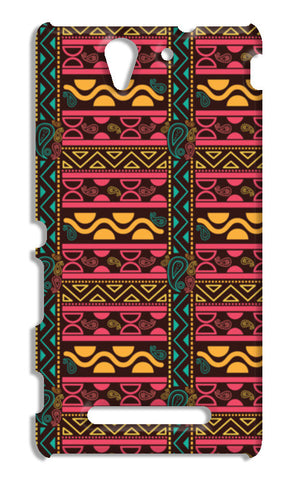 Abstract geometric pattern african style Sony Xperia C3 S55t Cases | Artist : Designerchennai