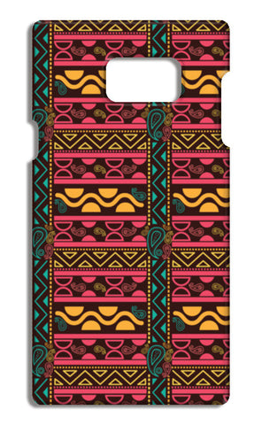 Abstract geometric pattern african style Samsung Galaxy Note 5 Cases | Artist : Designerchennai