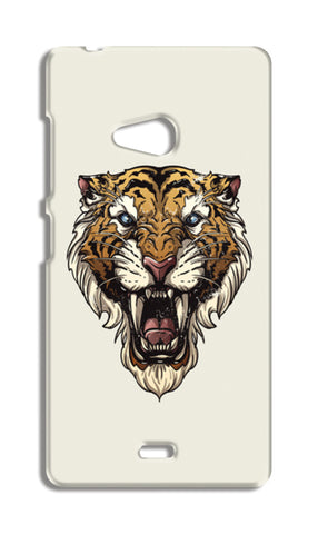 Saber Toothed Tiger Nokia Lumia 540 Cases | Artist : Inderpreet Singh