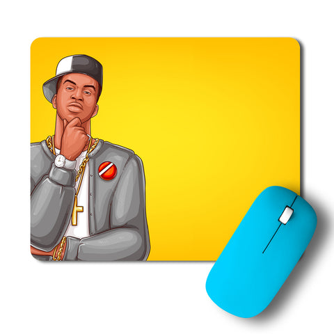 Pop Art Rap Hip Hop Character Mousepad