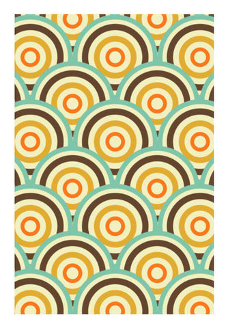 Geometric Vintage Circular Pattern Art PosterGully Specials