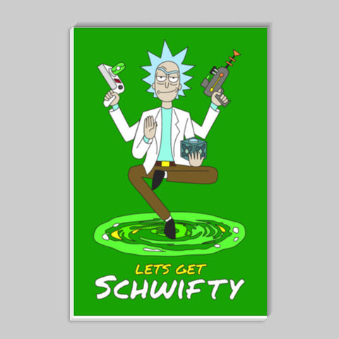 Hey Morty, lets get Schwifty Stick Ons | Artist : 8bitbaba