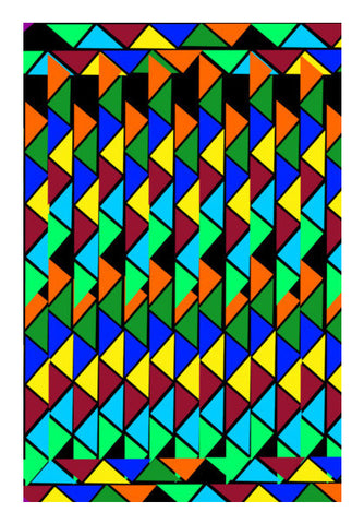 Abstract Color Triangle Art PosterGully Specials