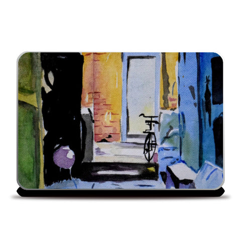 A quaint little house in village Laptop Skins | Artist : Rahul Tanwar