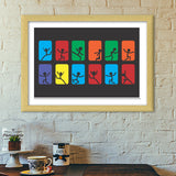 ESCAPE THE WORLD-BW Premium Italian Wooden Frames | Artist : Tiny Dots