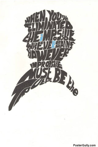 Wall Art, Sherlock Typo Artwork | Artist: Shyam Zawar, - PosterGully - 1