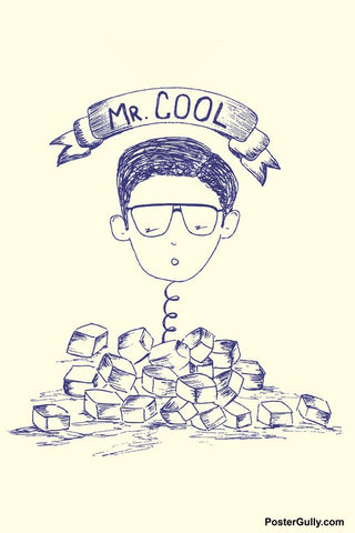 Wall Art, Mr. Cool Artwork | Artist: Simran Anand, - PosterGully - 1