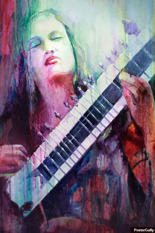 Brand New Designs, Guitar Water Color Painting Artwork | Artist: Raviraj Kumbhar, - PosterGully