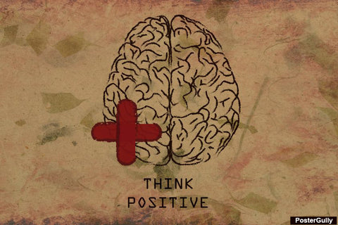 Wall Art, Think Positive Artwork | Artist: Priyanka Kapoor, - PosterGully