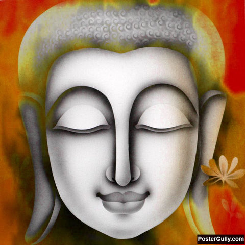 Brand New Designs, Buddha Grey Artwork | Artist: Pradeesh K, - PosterGully