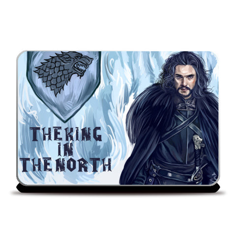 the king in the north Laptop Skins | Artist : chaitanya kumar
