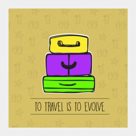 PosterGully Specials, To Travel Is to Evolve Square Art Prints | Artist : Stuti Bajaj, - PosterGully