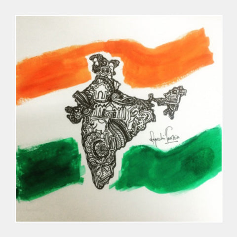 Square Art Prints, Yeh Mera india Square Art | Artist: Ayushi Teotia, - PosterGully