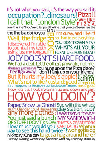 The Best of Joey Tribbiani 2 | FRIENDS Wall Art | Artist : Virtual Paintings