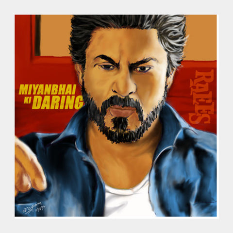 Raees Artwork Square Art Prints | Artist : Anupam Prasoon
