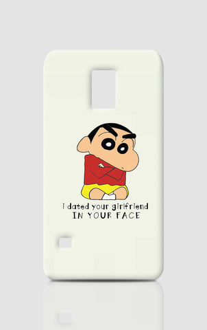 Samsung S5 Cases, In Your Face Shinchan Samsung S5 Case | Artist: Abhinav Anand, - PosterGully