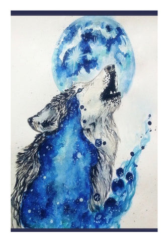 Wall Art, Blue Wolf Wall Art | Artist : Sukanya Chakraborty, - PosterGully