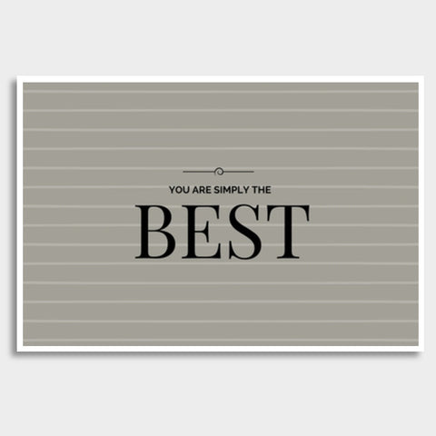 You are simply the Best Giant Poster | Artist : Pallavi Rawal
