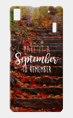 September to remember! Lenovo K3 Note Cases | Artist : DISHA BHANOT