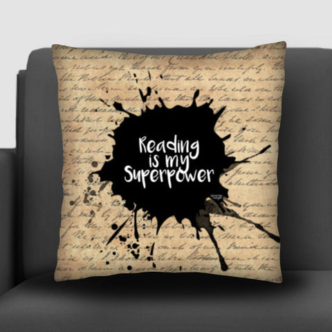 Reading is my Superpower (Vintage Paper) Cushion Covers | Artist : Aparna Singh