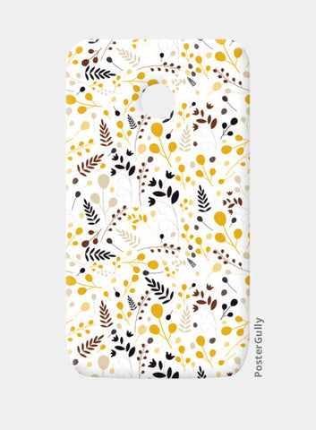 Floral seamless pattern on yellow Moto E Cases | Artist : Designerchennai