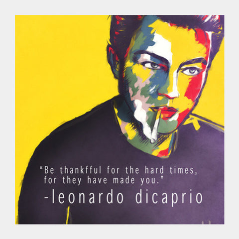 Leonardo Dicaprio Fan Art Square Art Prints PosterGully Specials