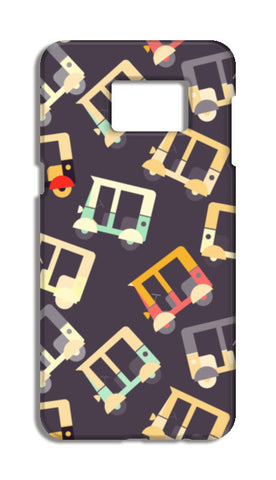 Auto rickshaw quirky pattern Samsung Galaxy S6 Edge Plus Cases | Artist : Designerchennai