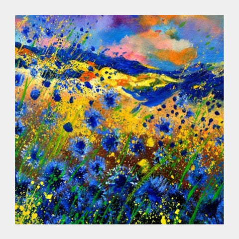 Blue Cornflowers 6985 Square Art Prints PosterGully Specials