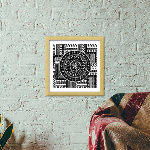 Artistry of Life | Zentangle Art Premium Square Italian Wooden Frames | Artist : Sriparna Chandra