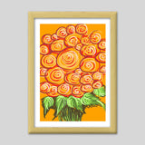 Premium Italian Wooden Frames, Swirls and flowers ! Premium Italian Wooden Frames | Artist : Shakthi Hari, - PosterGully - 3