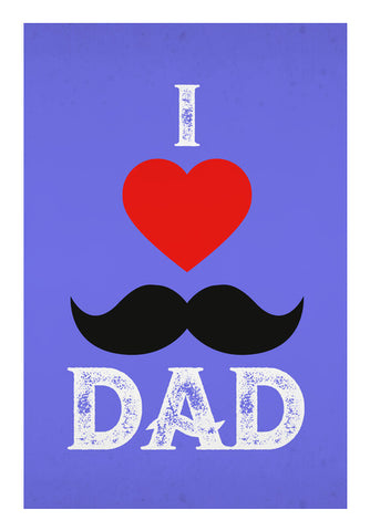 I Love You Dad Red & Purple | #Father's Day Special  Wall Art | Artist : Creative DJ