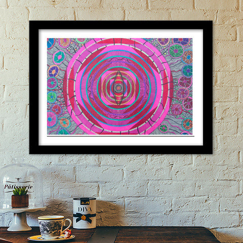 The third eye-3 Premium Italian Wooden Frames | Artist : Priyabrata Roy Chowdhury