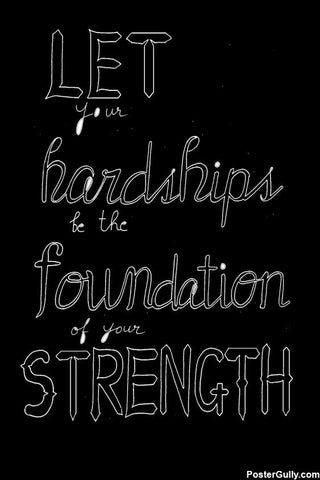 Wall Art, Foundation Of Strength Artwork | Artist: Kamya Kotak, - PosterGully - 1