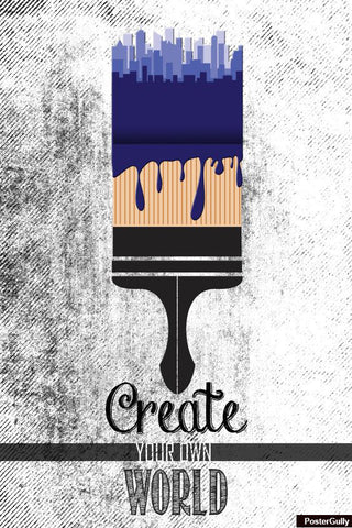 Wall Art, Create Your World Artwork | Artist: Abhishek Faujdar, - PosterGully - 1
