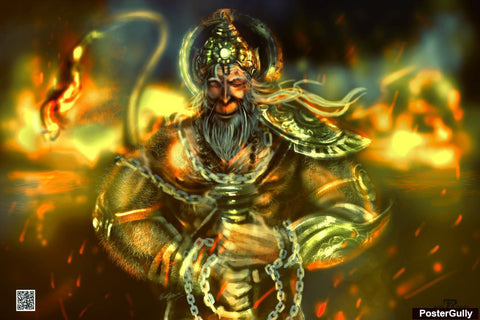 Brand New Designs, Hanuman Ji Artwork | Artist: Pankaj Bhambri, - PosterGully - 1