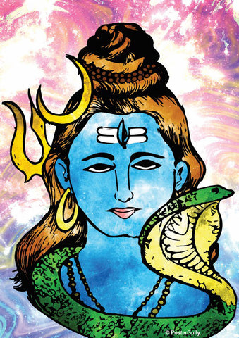 Brand New Designs, Lord Shiva Pop Art Artwork | Artist: Pulkit Taneja, - PosterGully - 1