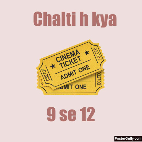 Square Art Prints, Chalti Hai Kya Artwork | Artist: Akshay Rathee, - PosterGully