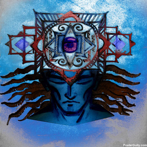 Square Art Prints, Third Eye Open Artwork | Artist: Athul Menon, - PosterGully