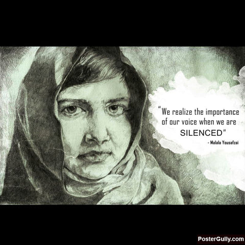 Square Art Prints, Malala Yousafzai Artwork | Artist: Pushkar Priyadarshi, - PosterGully