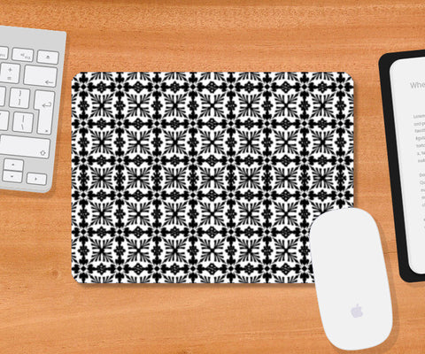 Mousepad, Black And White Checkered Pattern Mousepad | Artist : Seema Hooda, - PosterGully