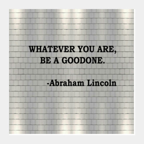 Abraham Lincoln Inspirational Quote Typography Poster Square Art Prints PosterGully Specials