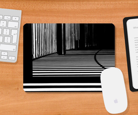 Black and White Architecture Pattern Mousepad | Artist : Aditya Gupta