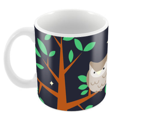 NIGHT OWL Coffee Mugs | Artist : PUJA KUMAR