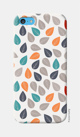 Seamless pattern with multicolored leaf on light background iPhone 5c Cases | Artist : Designerchennai
